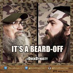 DuckDynasty It's a beard off