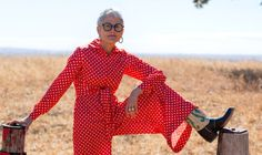 The Unlikely Style Icon Teaching Older Women to Be Fashion Rebels Older Women Fashion, Womens Fashion, Access Fashion, 65 Years Old, Cool Style, My Style, Cycling Shorts, Rebel, Thrifting
