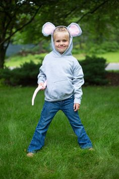 Learn how to turn a standard hoodie sweatshirt into a darling mouse costume, for Halloween or for...