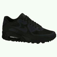 size 40 e7645 24b24 All black everything Nike Air Max Black, Black Nike Shoes, Air Max Women,