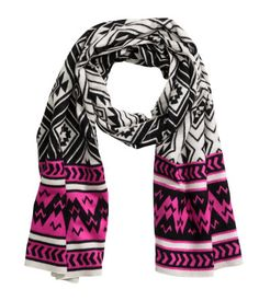 Check this out! Scarf in a soft jacquard weave with overlocked edges. Size 80x210 cm. - Visit hm.com to see more.