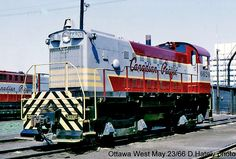 www.trainweb.org oldtimetrains photos cpr_diesel ottawa.htm Canadian Pacific Railway, Holiday Train, Railroad Pictures, Rail Car, Electric Train, Train Engines, Train Journey, Diesel Locomotive, Electronics Projects