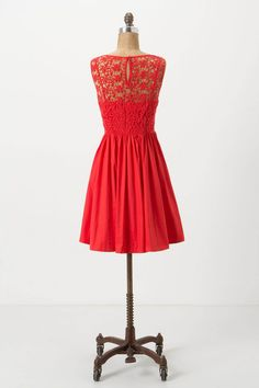 love this lace back! Sweet Enticement Dress - Anthropologie.com
