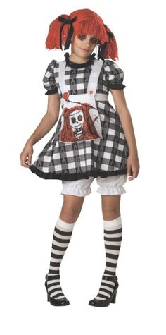 Tragedy Anne Halloween Costume for Teen Girls - Large - March 02 2019 at - Kids Wear - Halloween Costumes For Teens Girls, Unique Halloween Costumes, Halloween Kostüm, Girl Costumes, Adult Costumes, Children Costumes, Halloween Makeup, Doll Costume, Costume Dress