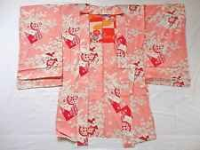 Japanese Vintage Kimono, HAORI, Silk, Pink, Flower,  LOVERY!! S011612
