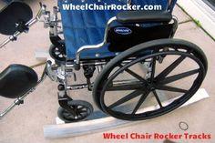 Rock Ur Mama  Portable Wheel Chair Rocking Tracks.  WheelChairRocker.com