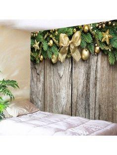 Christmas Wood Flooring Print Tapestry Wall Hanging Art