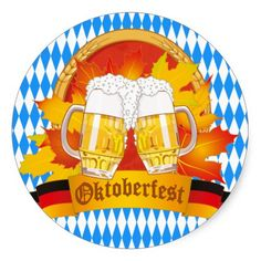 Oktoberfest Beer Label Sticker - sept 15 - #zazzle #junkydotcom - 2x