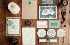 Austin Petito, of Tight Slice Graphics Co. developed this insanely gorgeous wedding package for his own wedding