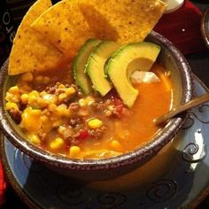 A tasty Mexi flavored soup.