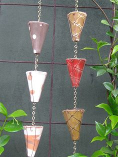 ceramic rain chains .. good idea ..