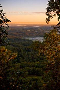 Heaton Lookout at Dawn, Watagan Mountains, Hunter Valley N.S. W. Australia