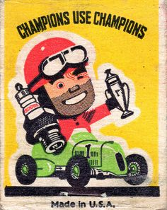 #MatchCover #FrontStriker Champion Spark Plugs To order your business; own branded matchbooks call 800.605.7331 or go to www.GetMatches.com. Today!