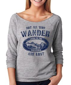 Look what I found on #zulily! Gray 'Not All Who Wander' Tee #zulilyfinds