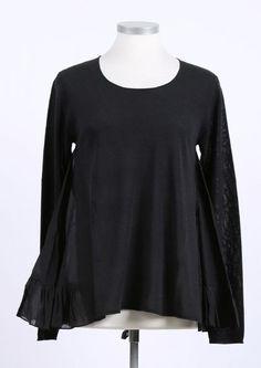 rundholz black label - Pullover mit Volants black - Sommer 2015 - stilecht - mode für frauen mit format...