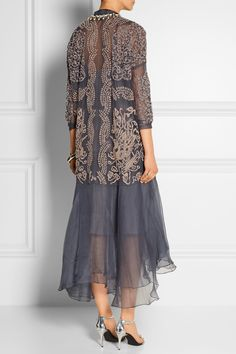 Biyan Atalia embellished tulle and silk-organza dress