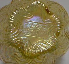 Two's Company Carnival Glass Vase Flower Frog | eBay