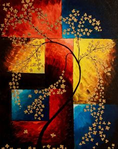 Red and gold art Cherry Blossom Painting Tree painting Floral painting Floral wall art House warming gift Living room decor Tree art Abstract Art Art Blossom Cherry decor floral Gift gold house Living Painting Red Room Tree Wall Warming Living Room Decor Tree, Arte Bar, Art Mural Floral, Art Rouge, Cherry Blossom Painting, Arte Floral, Gold Art, Modern Wall Art, Tree Art