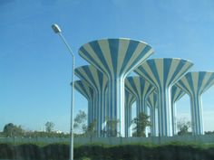 Water towers in Kuwait...I actually took a very similar pic of these exact towers:)