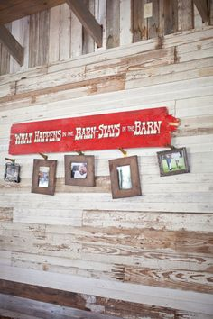 """Rustic Wedding Decoration Ideas """"What happen at the barn stays at the barn"""""""