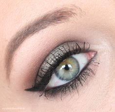 smokey silver cat eye makeup look