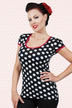 Rock Steady Clothing Robyn Top in Black and White Polkadot 110 14 14282 20150123 1
