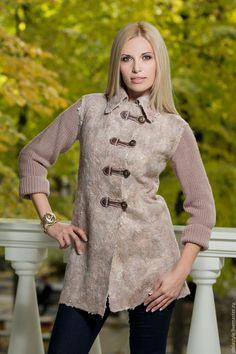 """Пиджаки, жакеты ручной работы. """"Automne"""". Stela Style. Интернет-магазин Ярмарка Мастеров. Теплая одежда, стиль, вязание"""