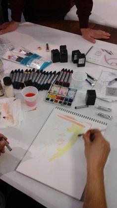 #workshop #artificio #padova #acquerelli