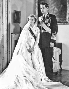 The next royal lady to wear the meander tiara was Princess Anne of Bourbon-Parma when she wed King Michael I of Romania on 10 June 1948 Royal Wedding Gowns, Royal Weddings, Reine Victoria, Queen Victoria, Michael I Of Romania, Romanian Royal Family, Bourbon, Today In History, Casa Real