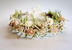 Bridal Flower Crown, Blush Wedding, Dried Flower Crown, Flower Crown, Mommy & Me Crown, Headdress, Boho Wedding, Head Wreath, DUSTY ROSE by MoonflowerNatureArt on Etsy https://www.etsy.com/listing/270662796/bridal-flower-crown-blush-wedding-dried