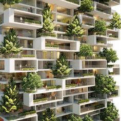 """""""Vertical Forest"""" planned for Switzerland Innovative Architecture, Education Architecture, Green Architecture, Futuristic Architecture, Concept Architecture, Beautiful Architecture, Architecture Details, Lausanne, Vertical Forest"""