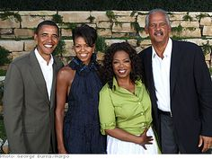 Barack Obama, Michelle Obama, Oprah Winfrey and Stedman Graham