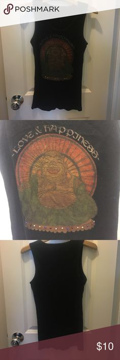Love and Happiness Buddha Tank Love and Happiness Buddha Tank troy Tops Muscle Tees
