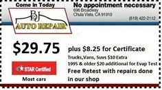 http://www.bnjautorepair.com/  Honest, Reliable Auto Repair Shop in Chula Vista, CA.
