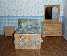 Miniature nautical bedroom