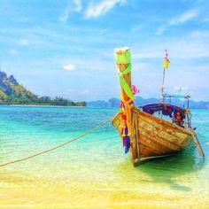 Bright waters in Krabi, Thailand. Photo courtsy of missjetsetter on Instagram.