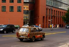 Trabi on the streets of Berlin Eccentric, Berlin, Germany, Street, Car, Automobile, Deutsch, Walkway, Autos