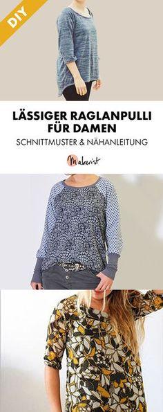 Schnittmuster: Kleid - Tunika - Download - Blusen & Tuniken - Damen ...