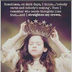 Yes, I straighten my crown!!!