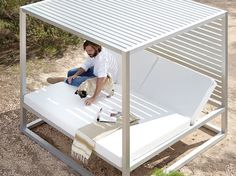 Contemporary daybed / fabric / garden / canopy Daybed by Jos GANDIA BLASCO