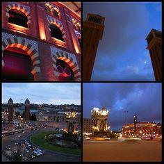 Disfrutando de Plaza de España (#Barcelona) en este #EuropeosViajerosenCataluña