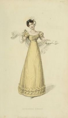 EKDuncan - My Fanciful Muse: Regency Era Fashions - Ackermann's Repository 1823 Regency Dress, Regency Era, Historical Costume, Historical Clothing, Historical Dress, Victorian Fashion, Vintage Fashion, Gothic Fashion, Victorian Dresses