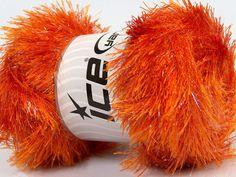 Fiber Content 80% Polyester 20% Lurex Orange Brand Ice Yarns fnt2-46554