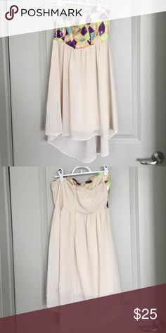 High low strapless dress Front and back pictured Dresses High Low