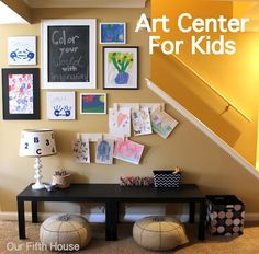 Art center for kids...I'm in the works of making one cause my kids LOVE arts and crafts.