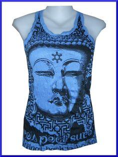 798a80b3f Lady Tank Top Buddha Yoga Tattoo Zen India Hobo Boho Wrinkle Sure Free Sz  RARE. John Ryan · T-shirts