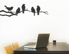 Owl on a Branch Decal Cute Vinyl Wall Sticker door SimpleShapes