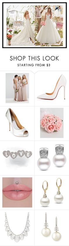 """Fashion"" by merima022 ❤ liked on Polyvore featuring Christian Louboutin, Badgley Mischka, ASOS, Belpearl and New Directions"