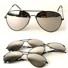 Nice long lasting stylish sunglasses that he likes...    maybe something nicer than these ones... Black Frame & Mirrored Lens Aviator 3-Pack w/ Drawstring Sunglass Pouch
