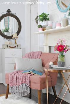 Cozy Reading Corner via Town and Country Living for Cost Plus World Market www.worldmarket.com #FallHomeRefresh